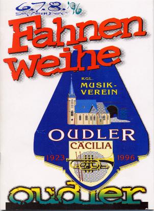Fahnenweihe 1996 Broschüre